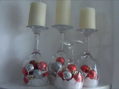 DIY: Wine Glass Candles