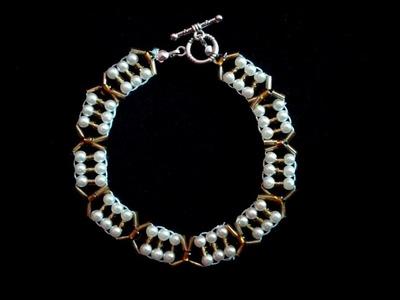 Easy beaded bracelet for beginners.