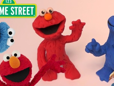 Elmo and Cookie Monster - Sesame Street | PLAY DOH | PLAY with CLAY