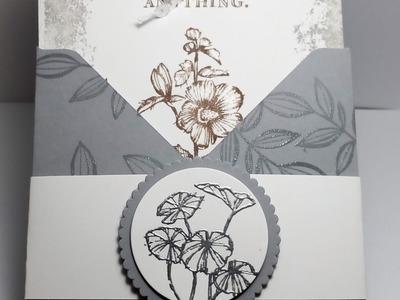Envelope card using Fabulous Flora Stampin Up!