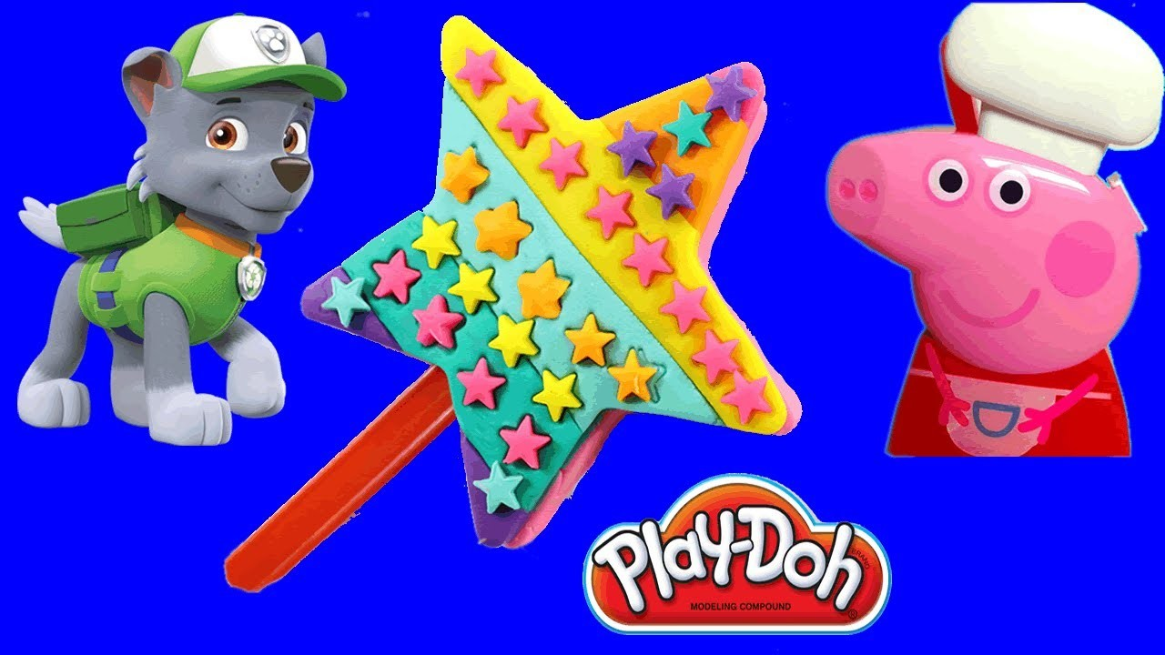 Foam Clay Ice Cream with Paw Patrol - play doh toys for kids