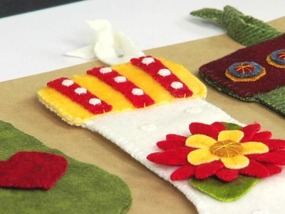 From the Sizzix Quilting Workshop: Celebrate the Holidays with the Stocking Die by Roseann Kermes