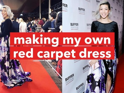 GRWM: DIY Red Carpet Dress in a day | WITHWENDY