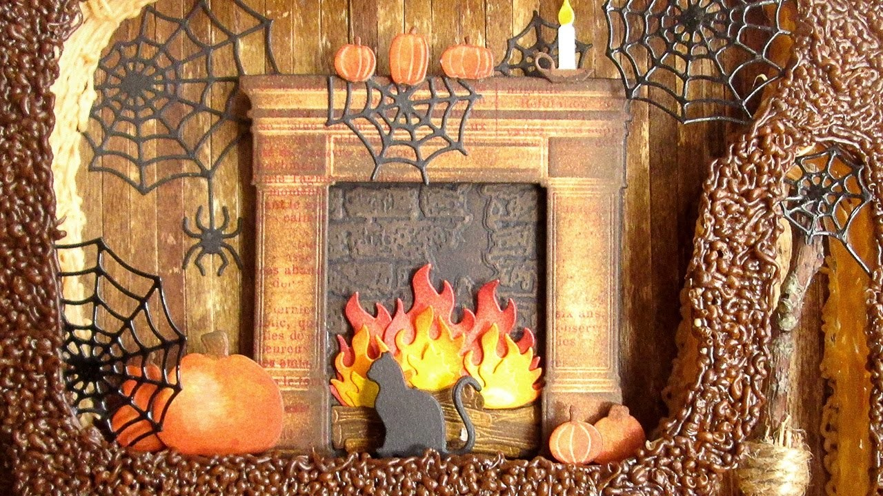 Halloween Shadow Box with 3D Pen