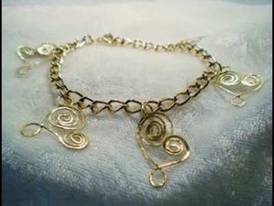 Hammered Wire Heart Bracelet Tutorial