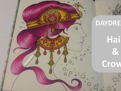 How To: Color Amazing Hair and Crown   DAYDREAMS (Dagdrömmar) by Hanna Karlzon