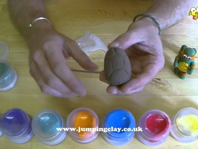 How to make a Ninja Turtle - Jumping Clay Tutorial