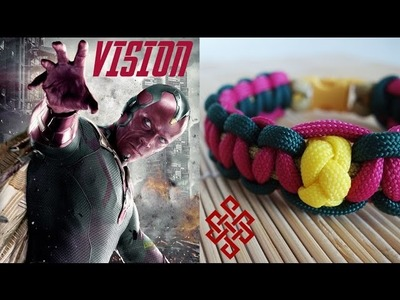 How to Make a Vision Themed Cobra Knot Paracord Bracelet Tutorial