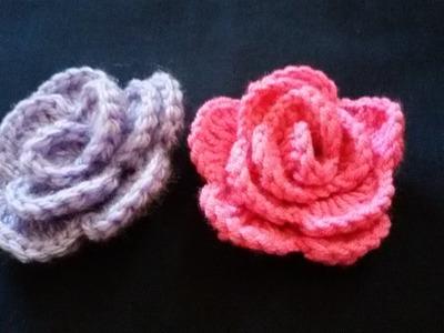 How to make crochet rose flower   new HD 2016