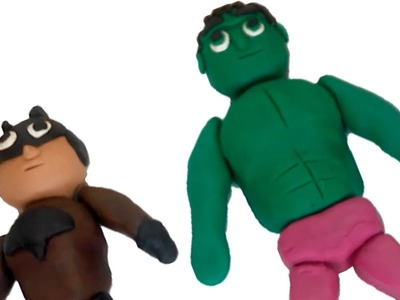 How To Make Hulk, Play Doh superheroes, clay doh heroes, play doh for kids #GoldClay