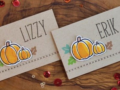 How to make Thanksgiving place-cards