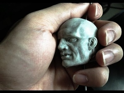 How to Sculpt Ecorche Hercules - Part 75 Sculpting the bearded head