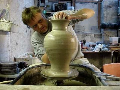 How to throw a big tall large pottery clay vase on a wheel LIVE !  pot throwing ingleton pottery