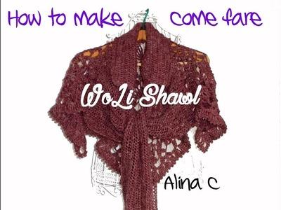How to Woli Shawl. Come fare lo scialle WoLi