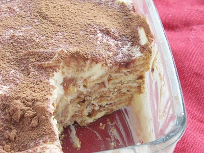Icebox Cake Recipe - No Bake (Eggless) Marie Biscuit Pudding - No Bake Desserts | Nisa Homey