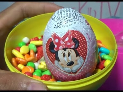 Kinder Surprise Chocolate Eggs Happily Surprised With Mickey Minnie Mouse Toys Nice Inside!