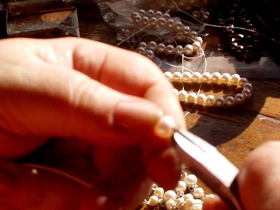 Making a Rosary with Pearls and Silver