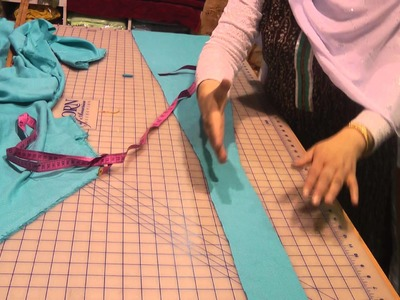 Making a template for annarkhalli dress