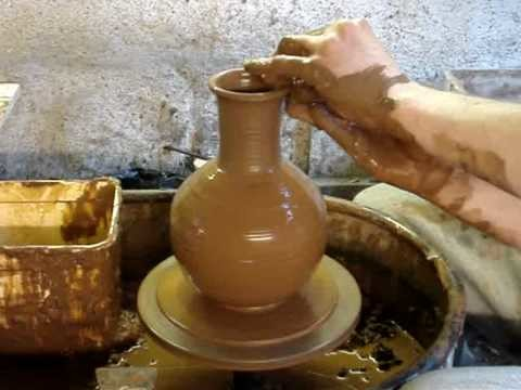 Making an Olla plant self watering clay pot on the potters wheel demo how to make a Ingleton Pottery