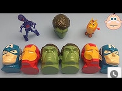 Marvel Avengers Surprise Egg Learn-A-Word! Spelling Words Starting With G! Lesson 5
