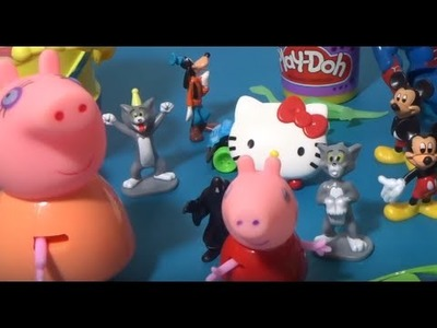 Mickey Mouse Peppa Pig and surprise Spiderman in the candy! Big giant egg surprise!