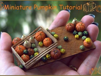 Miniature Pumpkin Tutorial-Polymer Clay