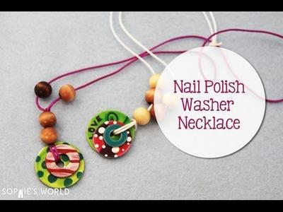 Nail Polish Washer Necklace Sophie's World