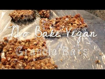 NO-BAKE GRANOLA BARS | Vegan Recipe