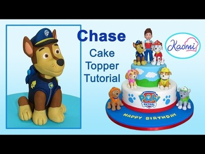 Paw Patrol (Cake Topper): Chase. Patrulla de cachorros: Cómo hacer a Chase