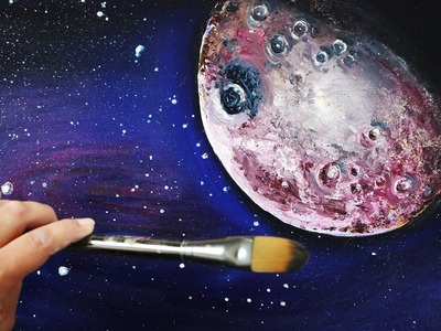 Planet in the Cosmos Painting Tutorial & a FREE GIFT for EVERYONE WHO WATCHES!!!!