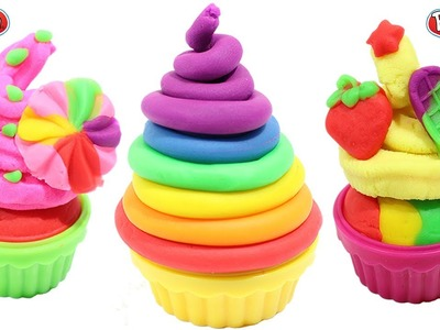 PLAY DOH - clay rainbow ice cream cups licorice along peppa pig toys