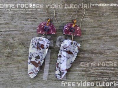 PolyPediaOnline FREE tutorial - Faux Marble Polymer Clay Cane by Iris Mishly