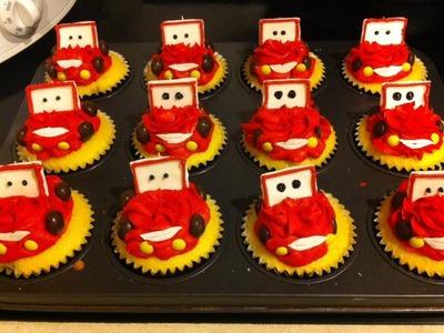 Recipes: Lightning McQueen Cupcakes