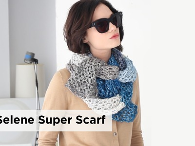 Selene Super Scarf made with Shawl in a Ball