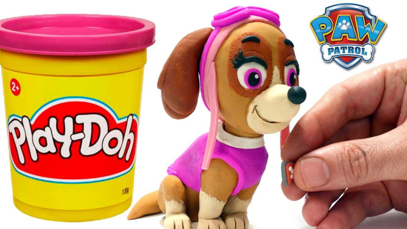 Skye Paw Patrol Stop Motion Play Doh claymation plastilina playdo Patrulla canina de cachorros