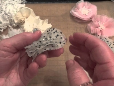Tricia's Easy Shabby Chic No Sew.No Glue Fabric Flowers!!!