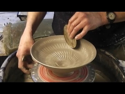 Trying out a new Textured Coloured Clay Slip Technique inside a Pottery Bowl