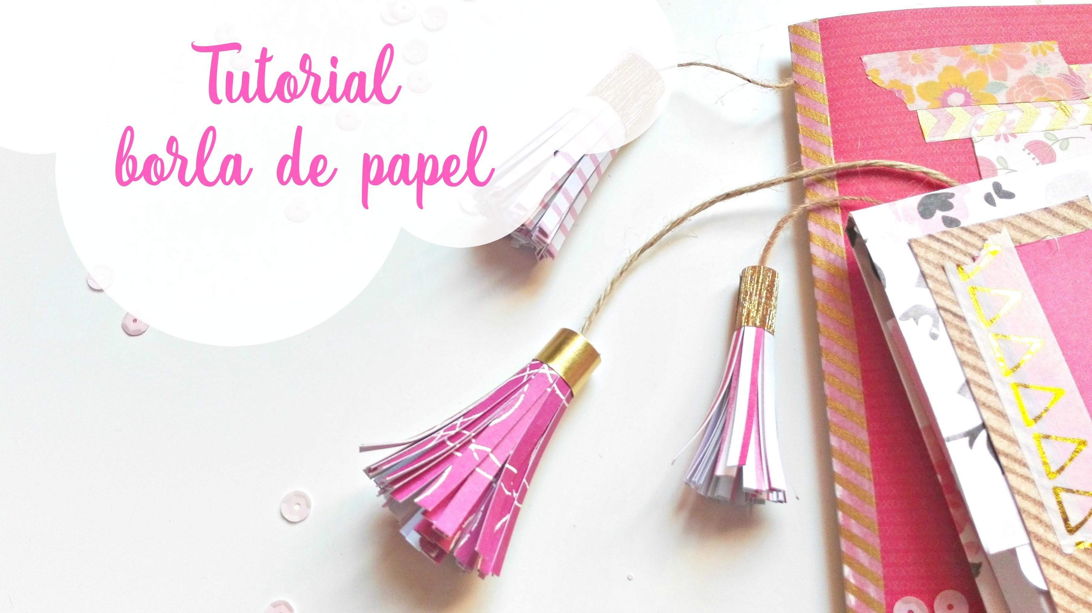 Tutorial: cómo hacer una borla de papel decorado | How to make a paper tassel | Scrapeando con Rocío