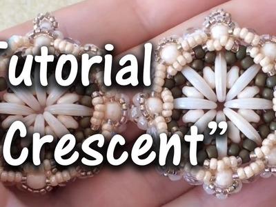 """TUTORIAL Perline Modulo """"Crescent"""", con Crescent Beads"""