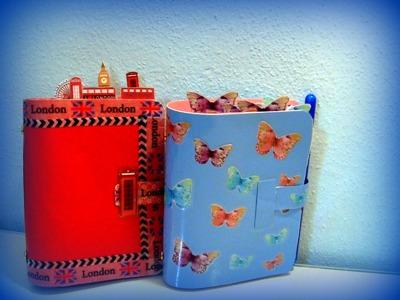 Agende fai da te: pocket London e pocket simil butterfly di filofax + diy clips washitape