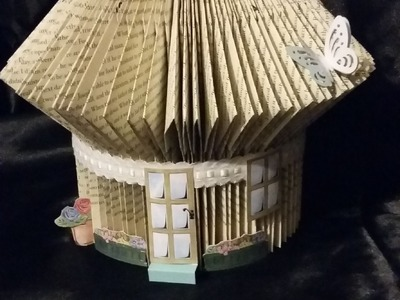 BOOK FOLDING STEP BY STEP TUTORIAL - FOLD A FAIRY HOUSE - BOOK ART