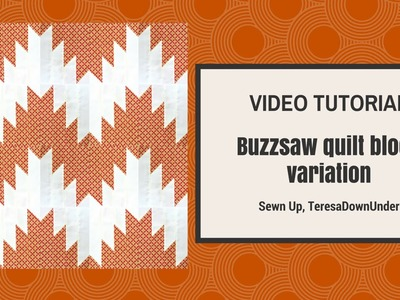 Buzz saw or delectable mountains quilting block tutorial