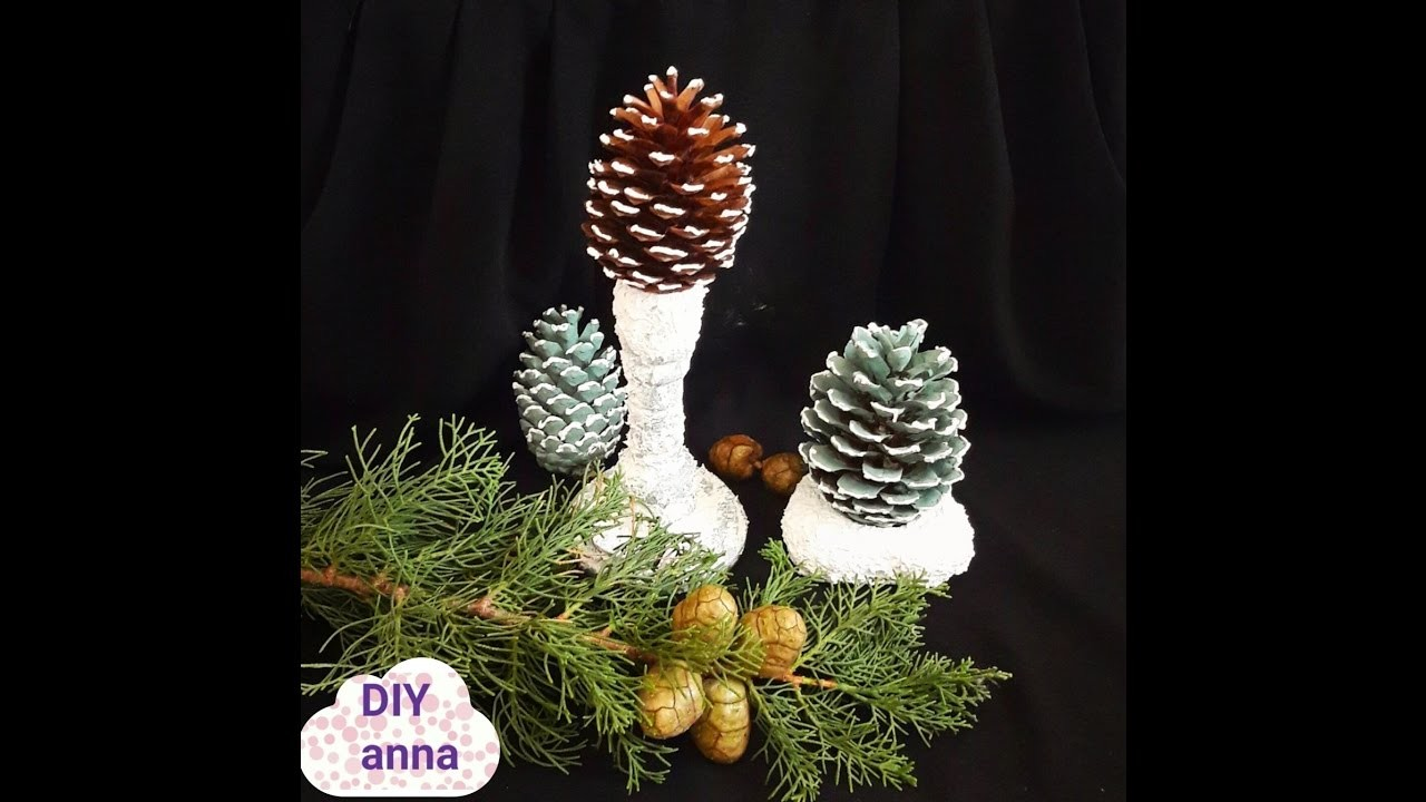 Christmas pinecones DIY ideas decorations crafts tutorial