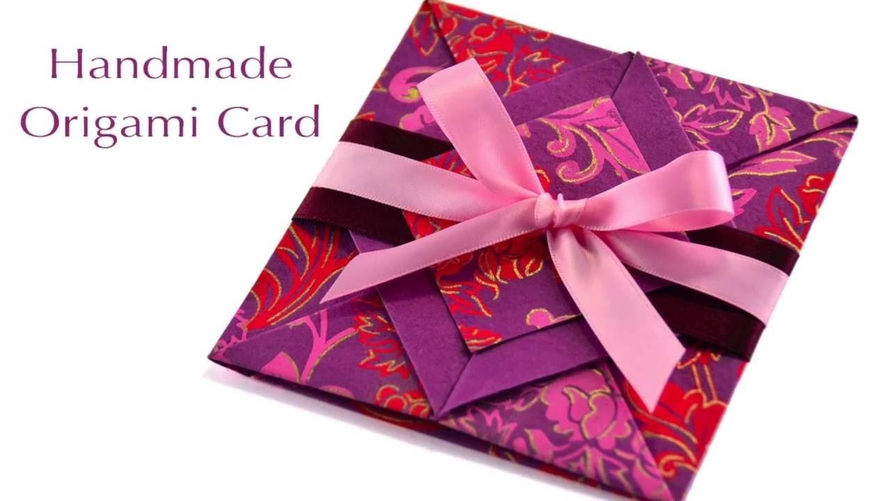 ♥ DIY Love Christmas Cards Ideas 2017: Valentine's Day Handmade Origami Card