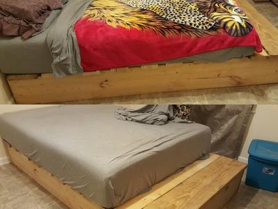 DIY Platform Bed For Under $20.00