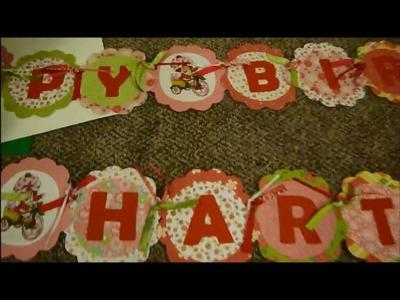 DIY Vintage Strawberry Shortcake Birthday Party Sneak Peek