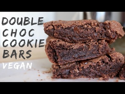 Double Chocolate Cookie Bars (VEGAN)