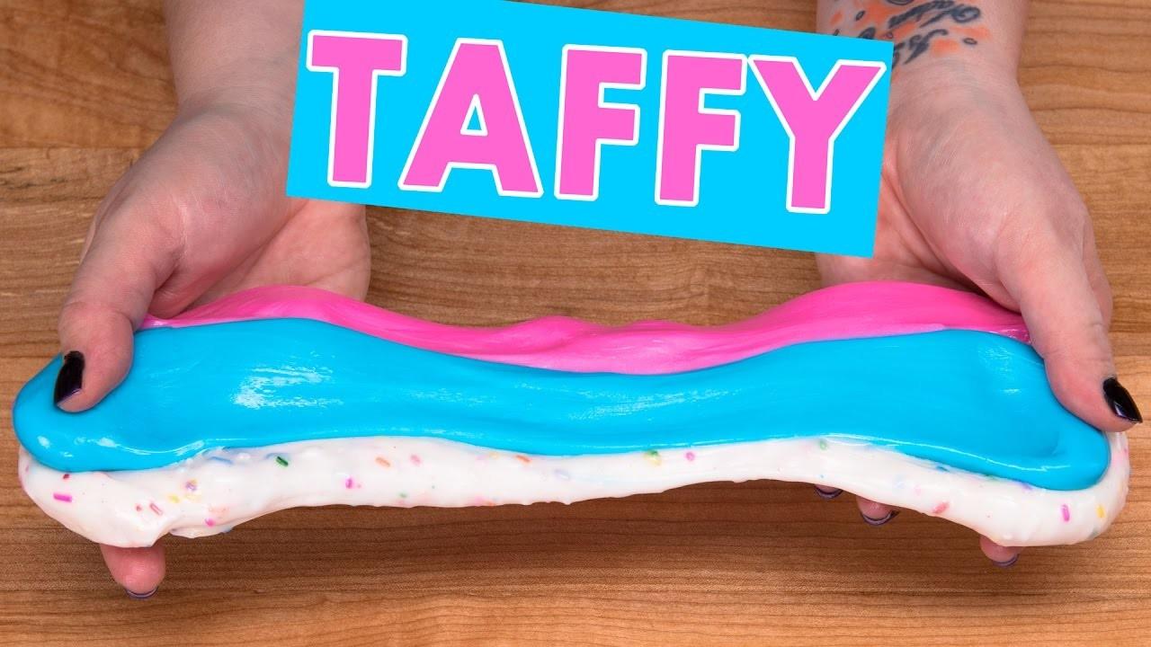 Homemade Taffy Candy Recipe (Cotton Candy, Bubble Gum & Funfetti)