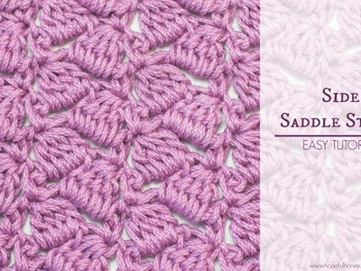 How To: Crochet The Side Saddle Stitch - Easy Tutorial