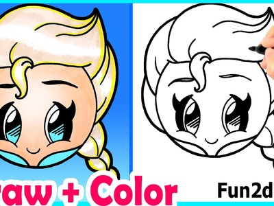 How to Draw Elsa Emoji Cute + Easy